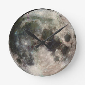 Round Moon Face Wall Clock