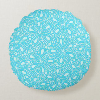 Round mosaic round pillow