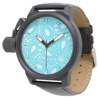 Round mosaic watch
