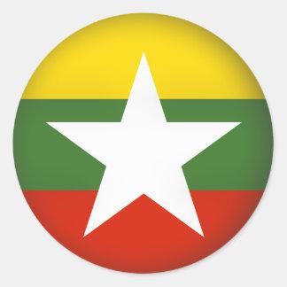 Round Myanmar Classic Round Sticker