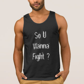 Round Neck CottonTank top with attitude quotes