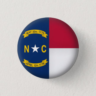Round North Carolina 1 Inch Round Button