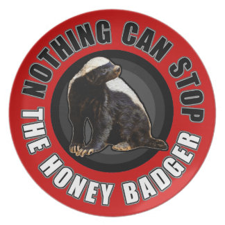 Round Nothing Can STOP the Honey Badger Design Dinner Plates