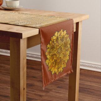 Round Oak Leaves Medium Table Runner