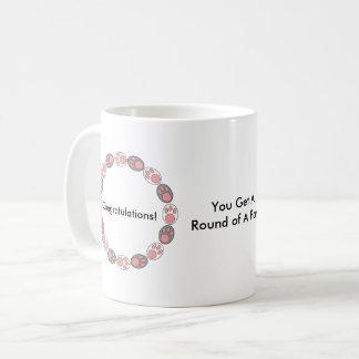 Round of a Paws Custom Coffee Mug