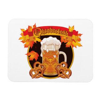 Round Oktoberfest Celebration Design Magnet
