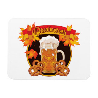 Round Oktoberfest Celebration Design Rectangular Photo Magnet