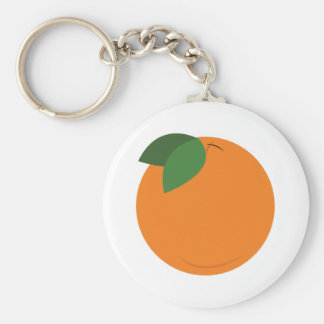 Round Orange Keychain