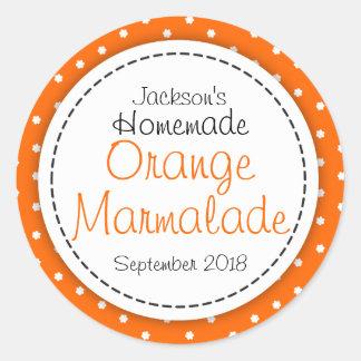 Round Orange Marmalade jam jar food label Round Sticker