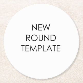 Round Paper Coaster Template