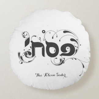 Round Passover Pesach Pillow