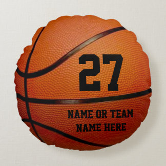 Round PERSONALIZED Basketball Pillows