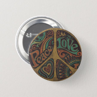 "Round pin ""Peace Love """