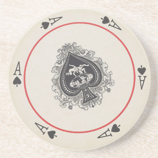 Round Playing Cards coasters