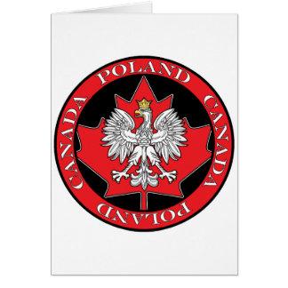 Round Poland Canada Leaf Card
