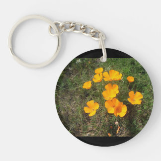 Round Poppies Keychain