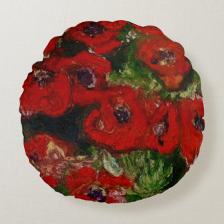 Round Poppy cushion