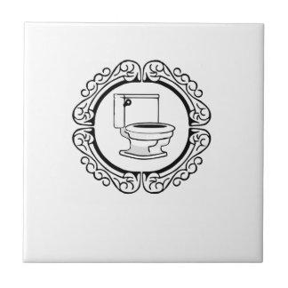 round potty label tile