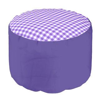 """Round pouf """"Vichy"""" - Lavender"""