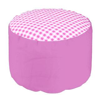 """Round pouf """"Vichy"""" - Pink"""