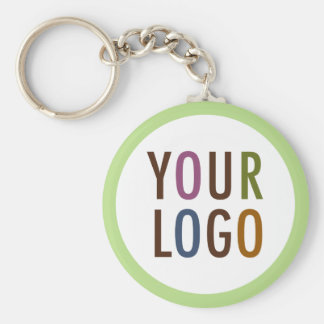 Round Promotional Keychain with Logo No Minimum