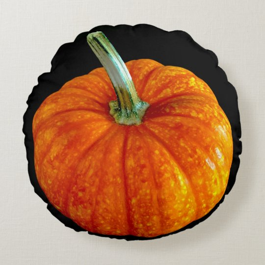 Round Pumpkin throw pillow