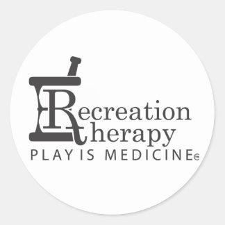 Round Recreation Therapy Sticker