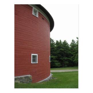 Round Red Barn Shelburne Vermont Postcard