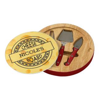 Round Retro Decor with Name Cheese Board Rectangular Cheeseboard