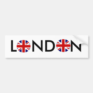 Round, Round, LONDON Bumper Sticker