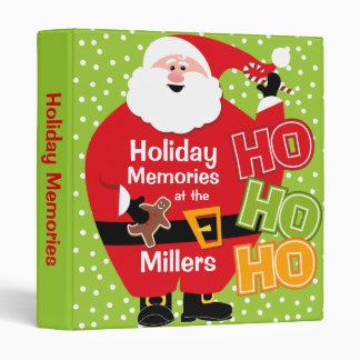 Round Santa HO HO HO Custom Binder