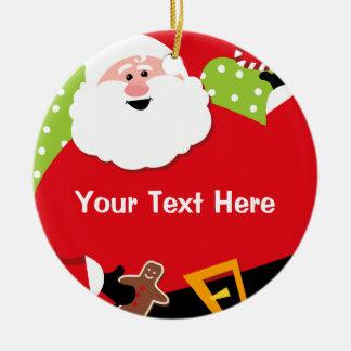 Round Santa Personalized Ornament