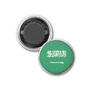 Round Saudi Arabia 1 Inch Round Magnet