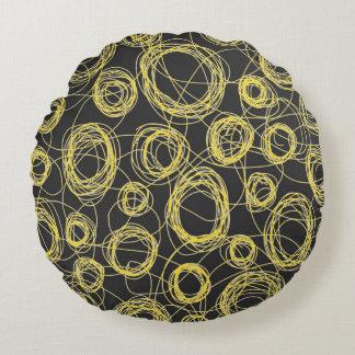 Round Scribbles Kid's Decor Round Pillow