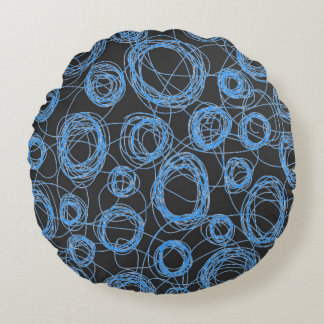 Round Scribbles Kid's Decor Round Pillow