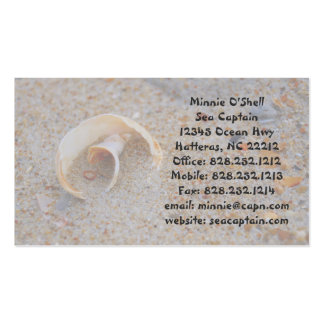 Round Seashell Business Card Business Card