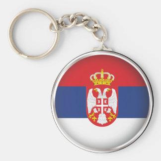 Round Serbia Keychain