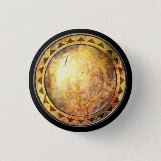 Round Shield - Golden Sun Emblem 1 Inch Round Button