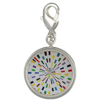 Round Silver Charm  - Beautiful Mind - Modern Art