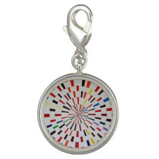 Round Silver Charm  - Beta - Modern Art