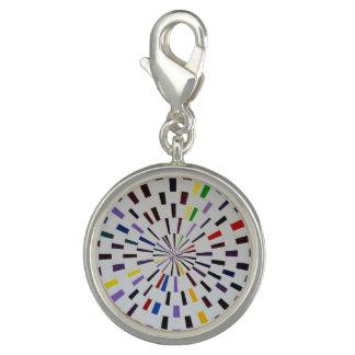 Round Silver Charm  - Gamma - Modern Art
