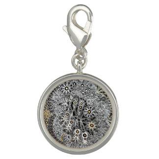 Round Silver Plated Charm (Jennifer)