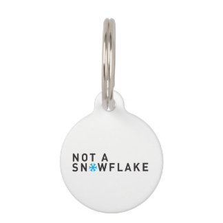 Round Small Pet Tag No Snowflake - CUSTOMIZE IT