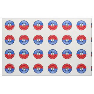 Round Smiling Haitian Flag Fabric