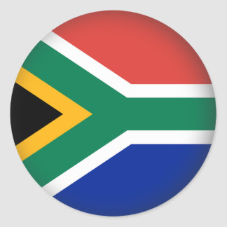 Round South Africa Classic Round Sticker