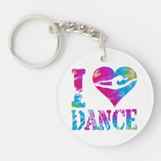 Round Square Acrylic Dance Cheer Gymnast Keychain