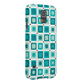 Round Squares Pattern Blue Cases For Galaxy S5