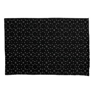 Round Stars Black Gray Modern Pillowcase Set