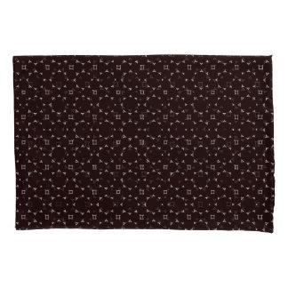 Round Stars Brown Modern Pillowcase Set