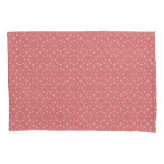 Round Stars Pink White Modern Pillowcase Set